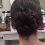vero beach FL hair salon braided bun hairstyle