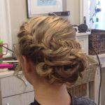 fishtail braided updo hairstyle vero beach FL