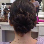 braided bun event hairstyle vero beach FL salon